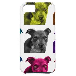 arte 0785 del perro del pitbull iPhone 5 carcasa