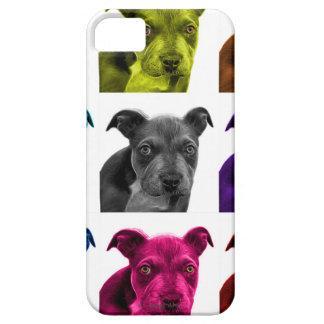 arte 0785 del perro del pitbull iPhone 5 fundas