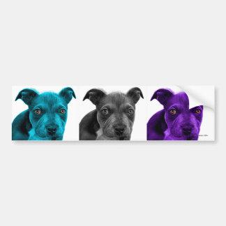 arte 0785 del perro del pitbull pegatina para auto