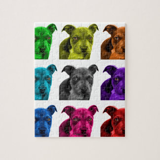 arte 0785 del perro del pitbull puzzles con fotos
