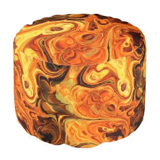Arte 10 del fractal del fuego puf redondo