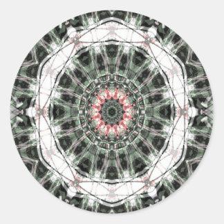 Arte 1276 del fractal pegatina redonda