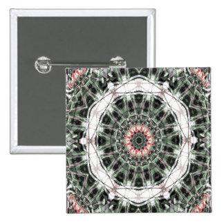 Arte 1276 del fractal pin cuadrada 5 cm