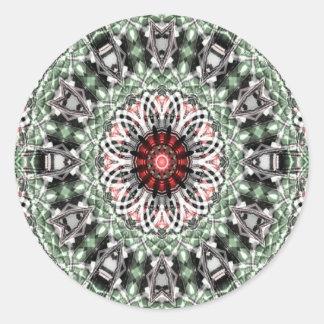 Arte 1277 del fractal pegatina redonda