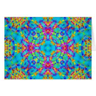 Arte 17 de la mandala del fractal tarjeta