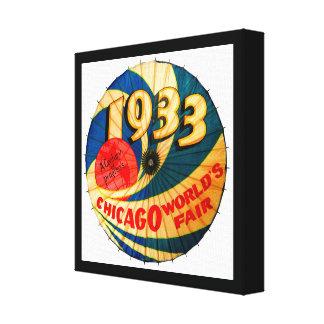 Arte 1933 del anuncio del progreso del siglo de la lienzo envuelto para galerías