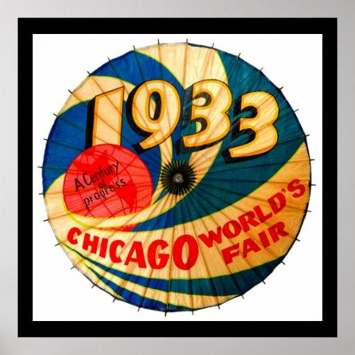 Arte 1933 del anuncio del progreso del siglo de la impresiones