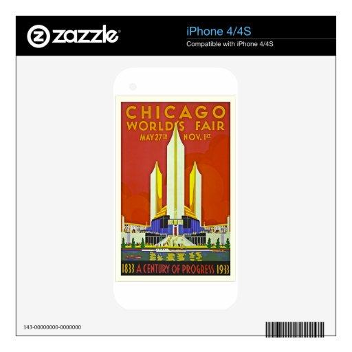 Arte 1933 del poster del viaje del vintage de la f iPhone 4S calcomanía