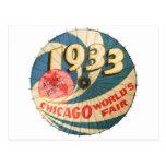 Arte 1933 del recuerdo de la feria de mundo de Chi Tarjetas Postales