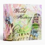 """Arte 1,5"""" de la historia de mundo carpeta"""