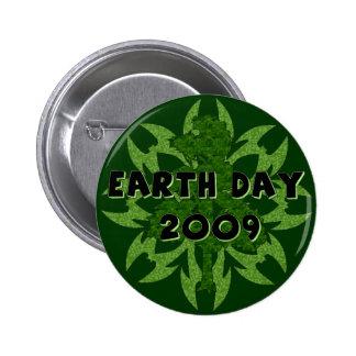 Arte 2009 del Día de la Tierra Pin Redondo 5 Cm
