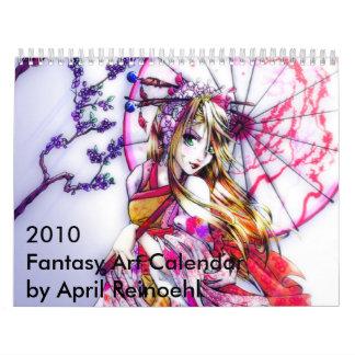 Arte 2010 de la fantasía calendario