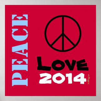Arte 2014 del poster del amor de la paz (texto de