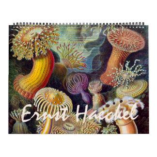 Arte 2015, biología y botánica de Ernst Haeckel Calendario