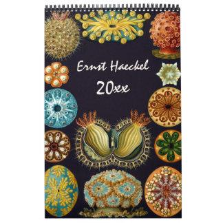 Arte 2016, biología y botánica de Ernst Haeckel Calendarios
