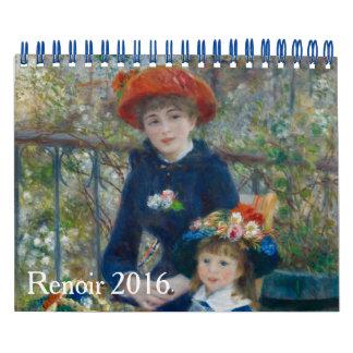 Arte 2016 de Renoir Calendarios De Pared