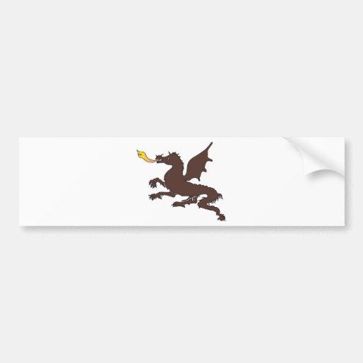 Arte 21 del dragón etiqueta de parachoque