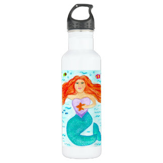 Arte 24oz. de la sirena botella de agua de acero inoxidable