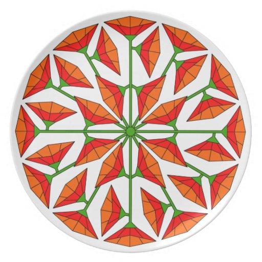 Arte 267 de la flor platos de comidas