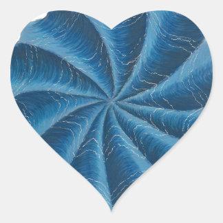 Arte #2 de Chakra del tercer ojo Pegatina En Forma De Corazón