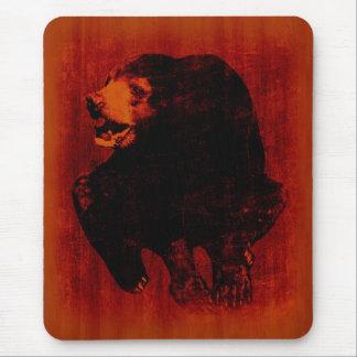 Arte #2 Mousepad del vintage del oso negro