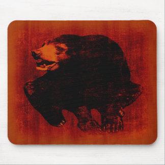 Arte #2 Mousepad del vintage del oso negro Alfombrilla De Ratón