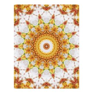 """Arte 3 del caleidoscopio del crisantemo del oro folleto 8.5"""" x 11"""""""