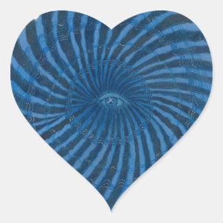 Arte #3 - intuición de Chakra del tercer ojo Pegatina En Forma De Corazón