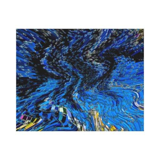 Arte 3D abstracto Lona Estirada Galerías