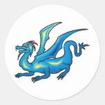 Arte 42 del dragón etiquetas redondas