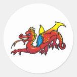Arte 50 del dragón pegatinas redondas