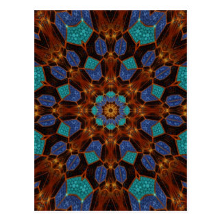 Arte 6 del fractal del pavo real tarjeta postal