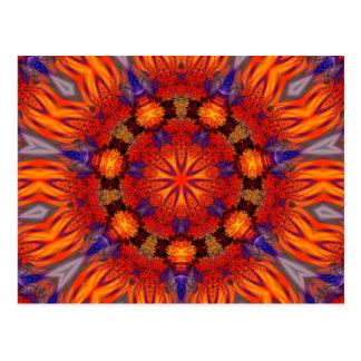 Arte 726 del caleidoscopio del fractal postal