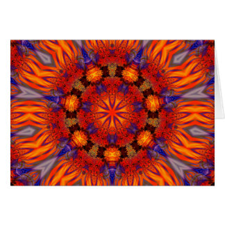 Arte 726 del caleidoscopio del fractal tarjetón