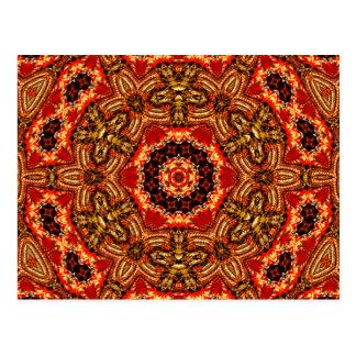 Arte 798 del caleidoscopio del fractal postal