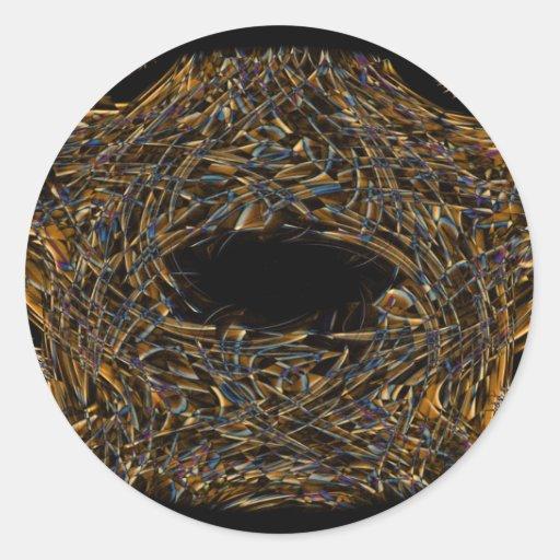 Arte (8).jpg del humo de Digitaces Pegatina Redonda