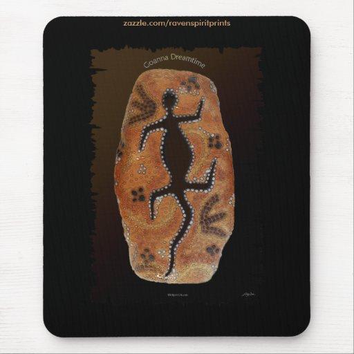 Arte aborigen australiano de Goanna del desierto Alfombrilla De Raton