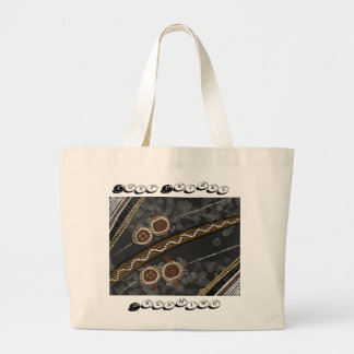Arte aborigen australiano - tribus perdidas bolsa tela grande