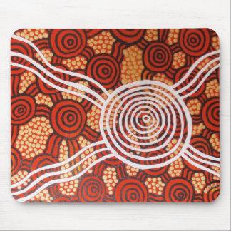 Arte aborigen de Corroboree II Alfombrillas De Raton