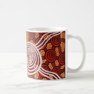 Arte aborigen de Corroboree II Tazas De Café