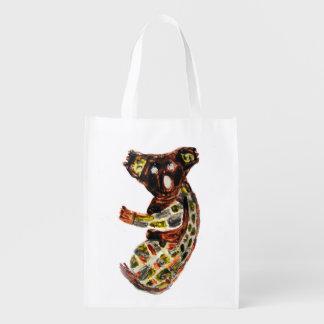 Arte aborigen de la koala bolsas para la compra