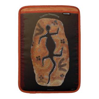 Arte Aborigen-diseñado australiano de Goanna del d Funda Para Macbook Air