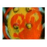 Arte abstracto 01 de la pintura de aerosol tarjeta postal