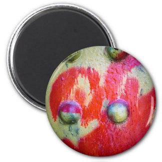 Arte abstracto 02 de la pintura de aerosol iman de frigorífico