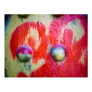 Arte abstracto 02 de la pintura de aerosol postales