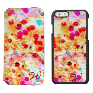 Arte abstracto 148 funda billetera para iPhone 6 watson