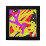 arte abstracto 2638 multicolores cajas de joyas