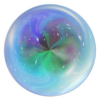 Arte abstracto 2 de la fantasía de la esfera platos para fiestas