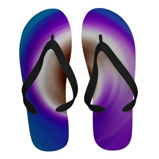 Arte abstracto 2 del giro colorido sandalias