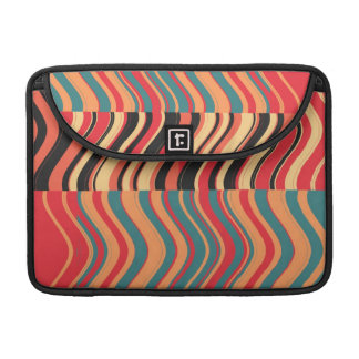Arte abstracto 2 del remolino colorido retro de fundas para macbooks